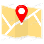Yellow street map to show directions to your clients.