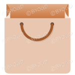 Brown grocery bag for shopping at your store.