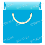 Light Blue grocery bag for shopping at your store.