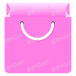 Pink grocery bag for shopping at your store.