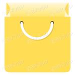Yellow grocery bag for shopping at your store.