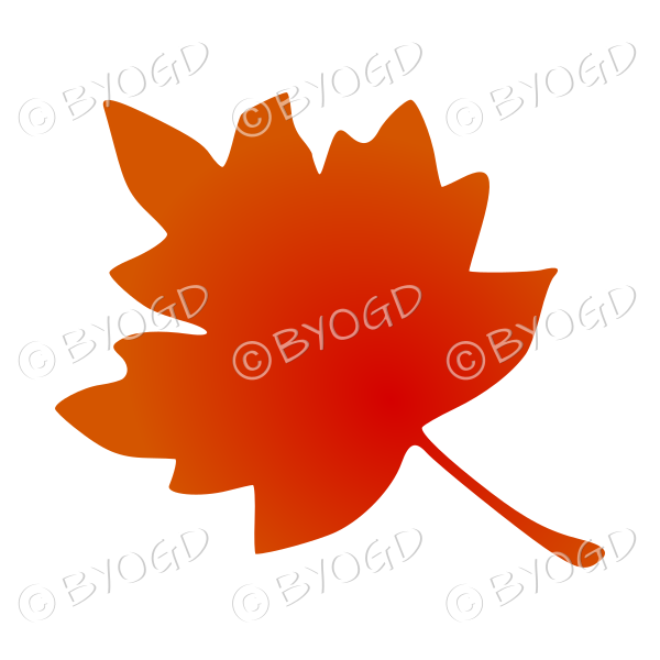 Autumn leaf in the fall – red orange colourway 3