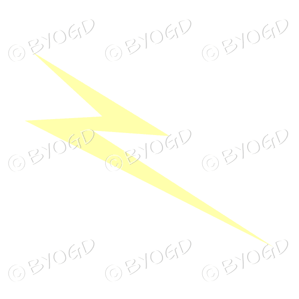 Lightning bolt – pale yellow