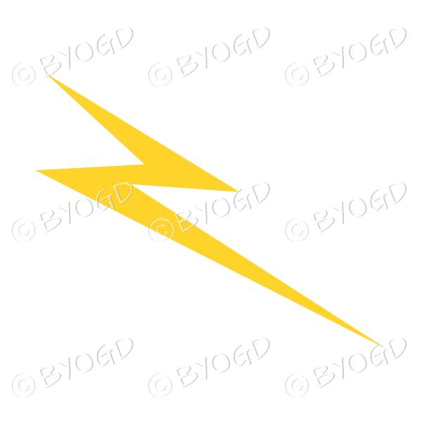 Lightning bolt – dark yellow