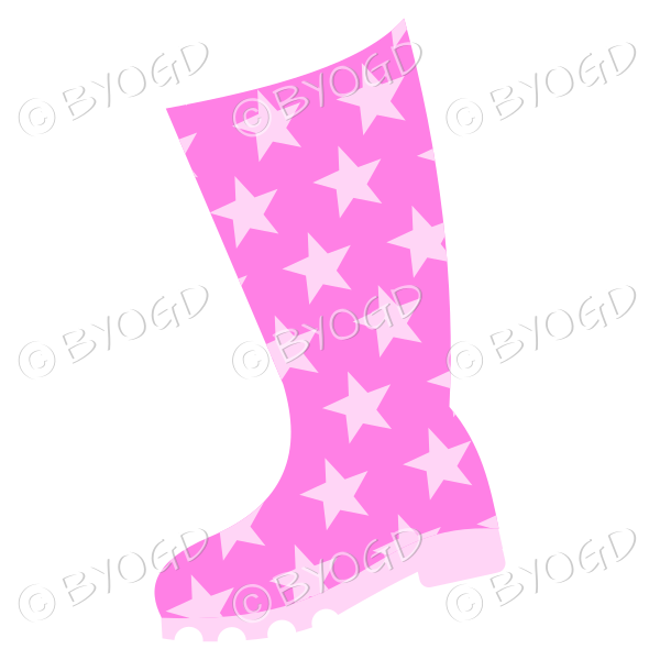 Pink wellington boot for splashing in puddles