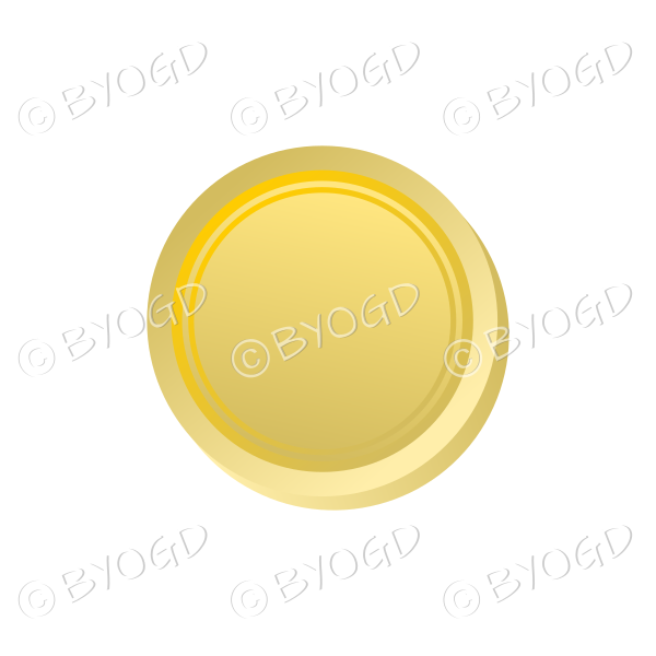 Plain gold coin disk