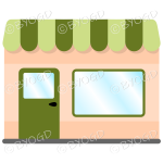 A lovely store front to your shop - Green