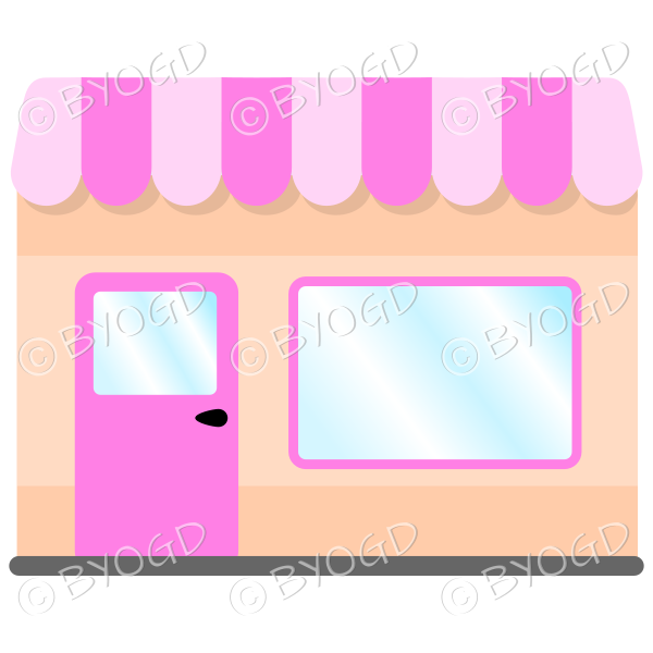 A lovely store front to your shop – Pink