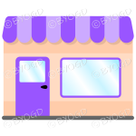 A lovely store front to your shop - Purple