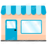 A lovely store front to your shop - Light Blue