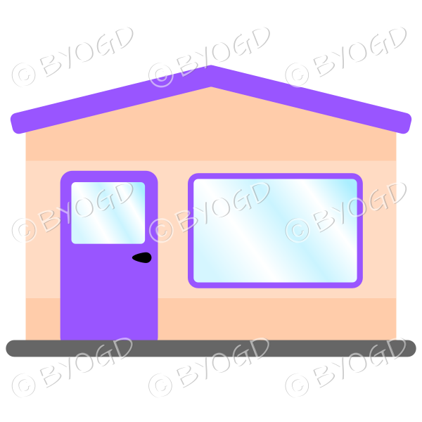 A simple purple theme shop front for your store
