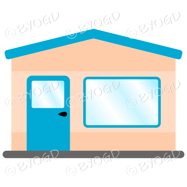 A simple light blue theme shop front for your store