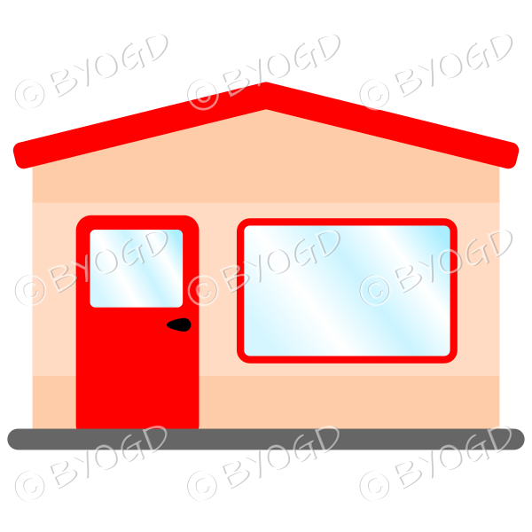 A simple red theme shop front for your store