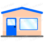 A simple blue theme shop front for your store