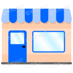 A lovely store front to your shop - Blue