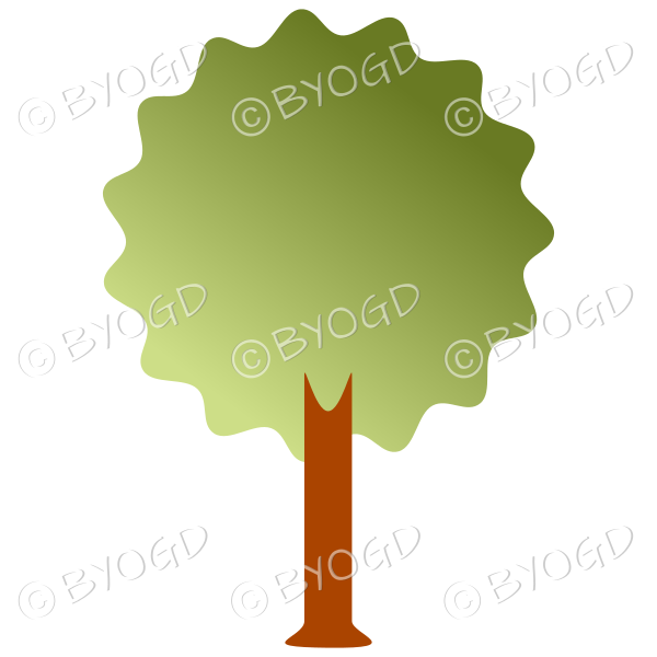 Bushy tree - graduated light to dark