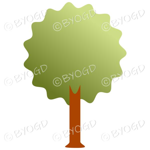 Bushy tree - graduated dark to light