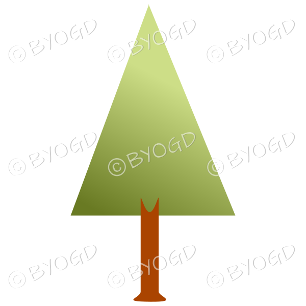 Triangle tree - graduated dark to light