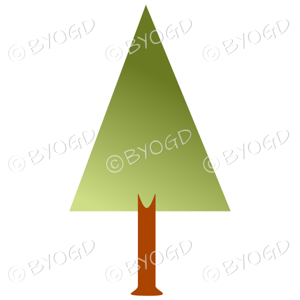 Triangle tree - graduated light to dark