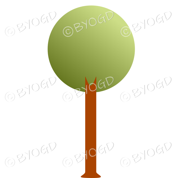 Round tree - graduated dark to light