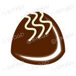 A delicious chocolate with white decoration