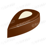 A speciality chocolate with an almond on top