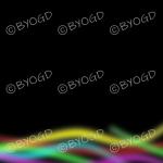 Rainbow multi-coloured lines on black background