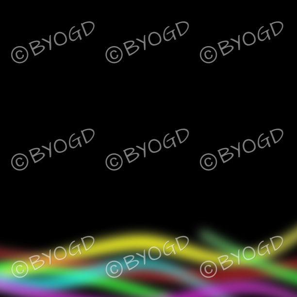 Rainbow multi-coloured lines on black background