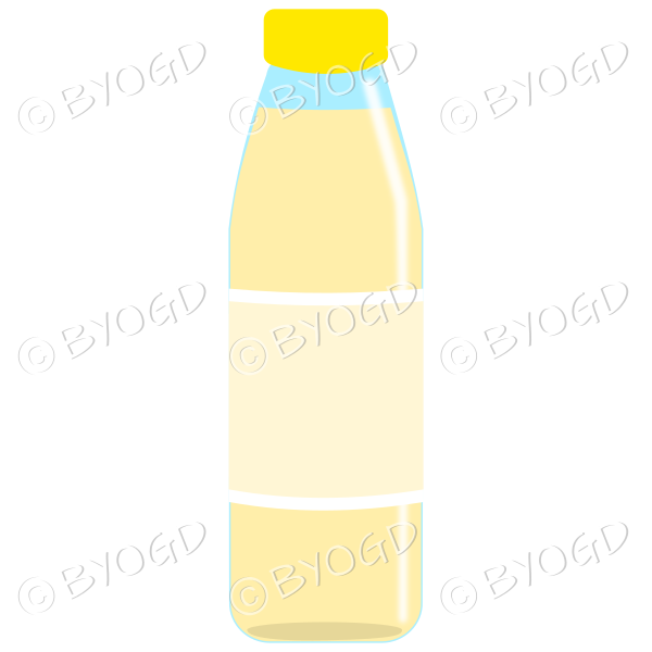 Yellow bottle with yellow juice