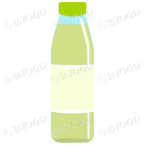 Green bottle with green juice