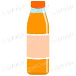 Orange bottle with orange juice
