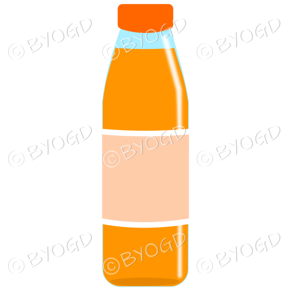 Orange bottle with orange juice