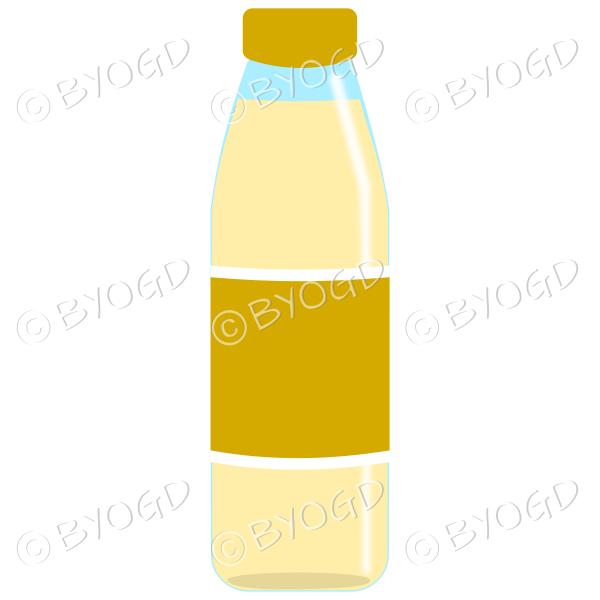 Dark Yellow bottle with yellow juice