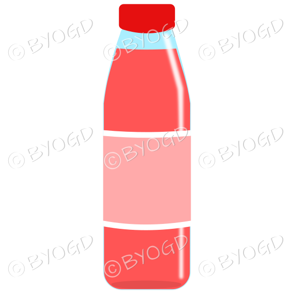 Pink bottle with pink juice