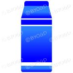 Blue food carton for milk, soup or juice