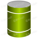 Green can or tin of soup or vegetables