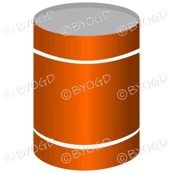 Orange can or tin of soup or vegetables