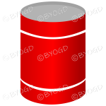 Red can or tin of soup or vegetables