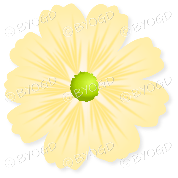 Yellow flower with green centre be your own graphic designer yellow flower with green centre mightylinksfo