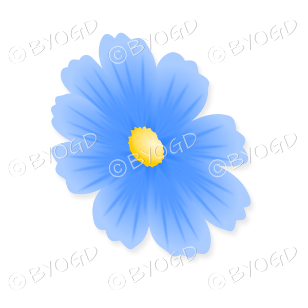 Pale Blue Flower With Yellow Centre Tilted Sideways Be Your Own
