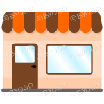 A lovely store front to your shop - Brown