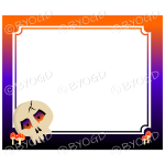 Halloween Background skull frame