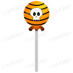 Halloween candy sweet lolly pop orange