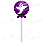 Halloween candy sweet lolly pop purple