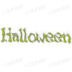 Halloween word in spooky typeface - Green