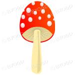 Halloween narrow red toadstool mushroom with white spots
