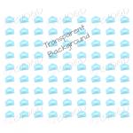 Light Blue mini envelope background on clear
