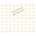 Yellow mini envelope background on clear