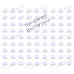 Purple mini envelope background on clear