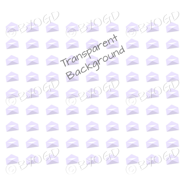 Purple mini envelope background on clear
